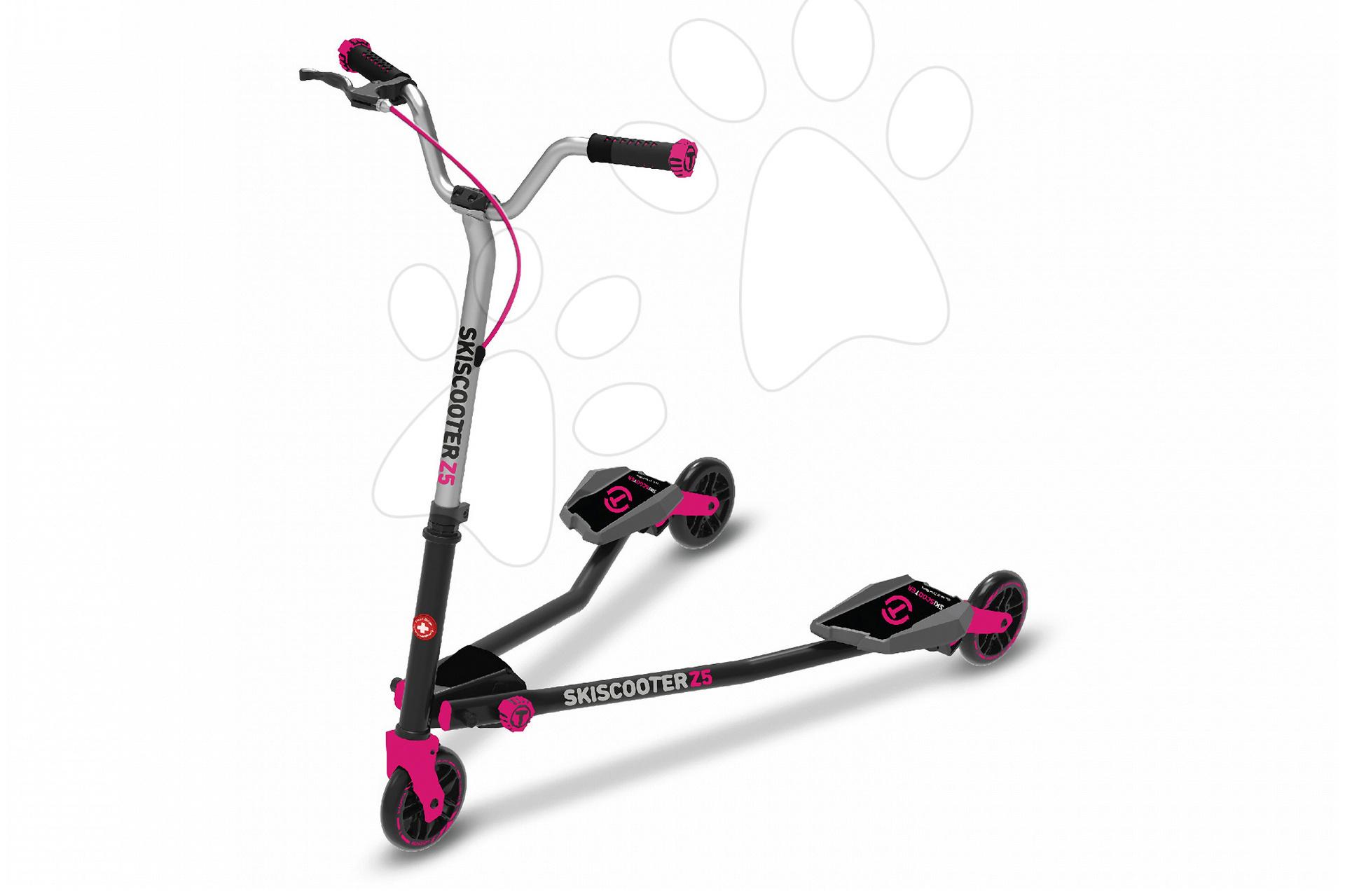Roller SkiScooter síelés az úttesten smarTrike Z5 Purple rózsaszín-fekete 5 évtől