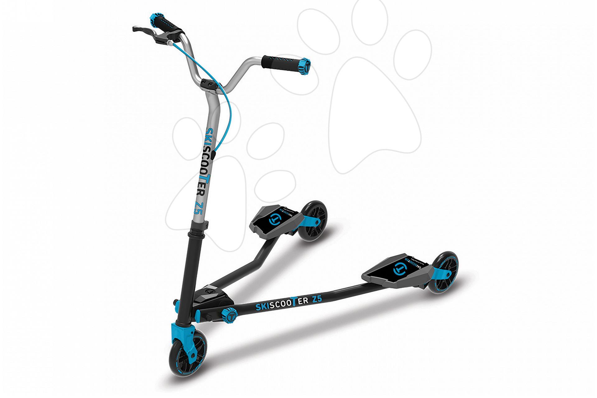 Trotinetă SkiScooter schiatul pe şosea smarTrike Z5 Blue albastru-negru de la 5 ani