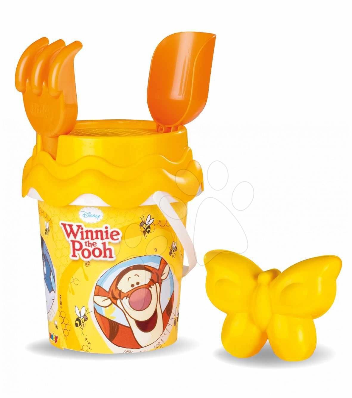 Produse vechi - Set pentru nisip Winnie the Pooh Smoby din 5 piese (cu înălţime de 15 cm) de la 18 luni