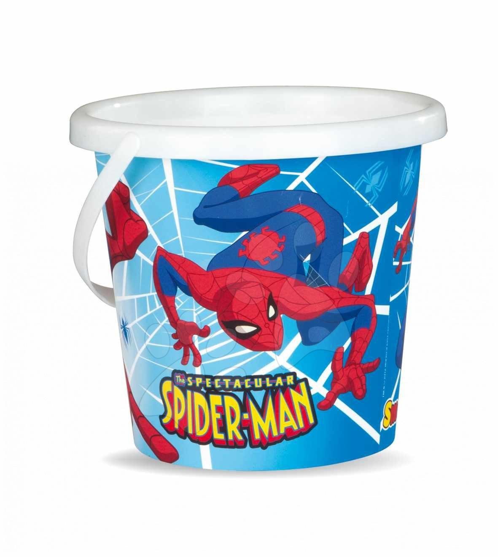Stari vnosi - Smoby 040168 Vedro prázdne za pesek 18 cm Spiderman, 17,6*17,2*16 cm od 18 mes
