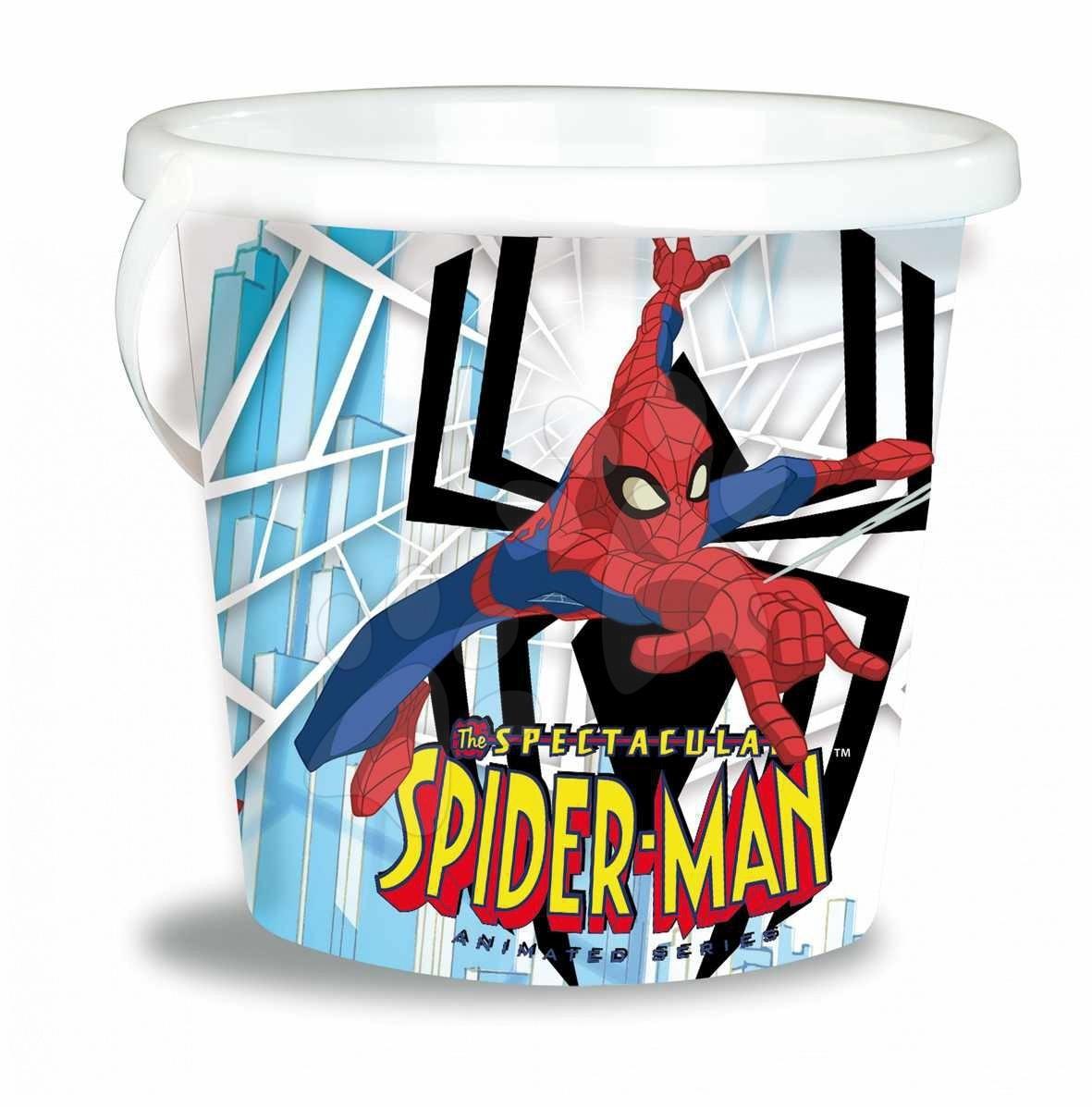 Staré položky - Kbelík prázdný do písku Spiderman Smoby prázdnéý 22 cm od 18 měsíců