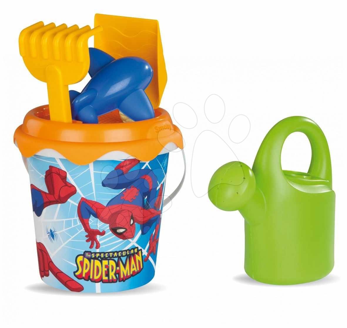 Kbelík set do písku do písku Spiderman Smoby 6 ks od 18 měsíců