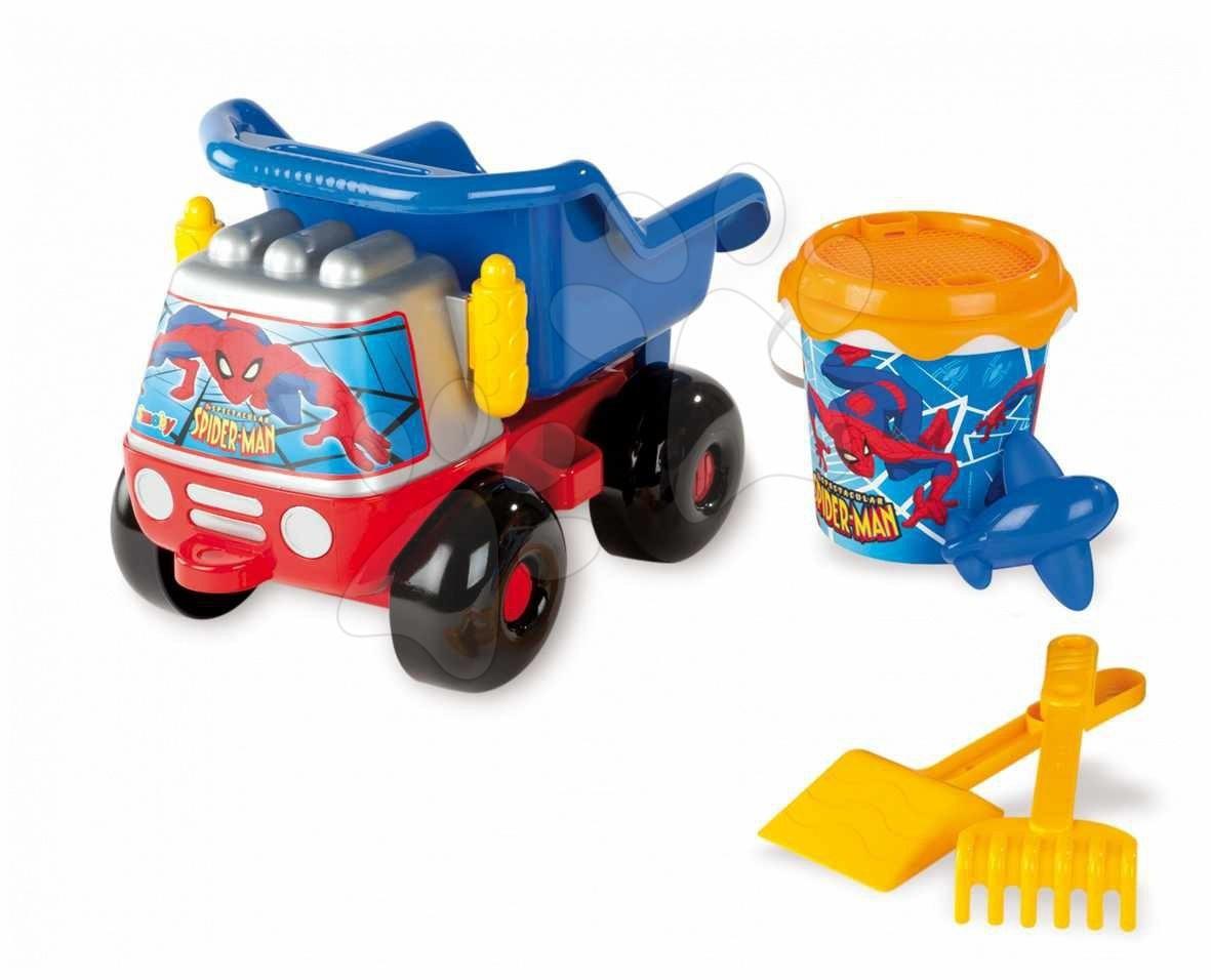 Smoby 40174 Set za pesek s nákladným avtomobilčekm Spiderman, 40*27*40 cm od 18 mes