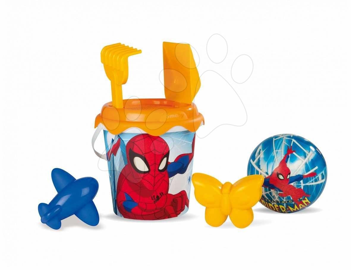Kbelík set do písku Spiderman Smoby v batůžku od 18 měsíců