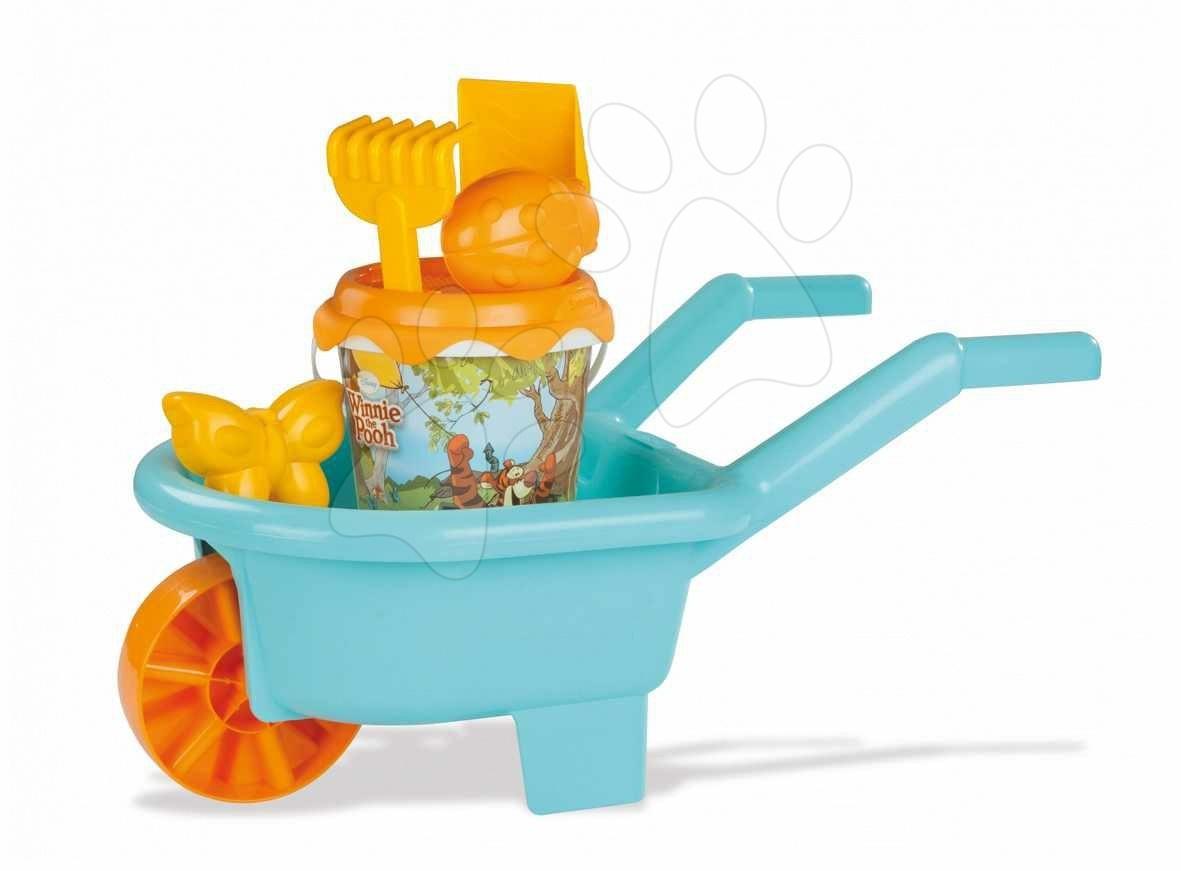 Produse vechi - Roabă cu set de nisip Winnie the Pooh Smoby de la 18 luni