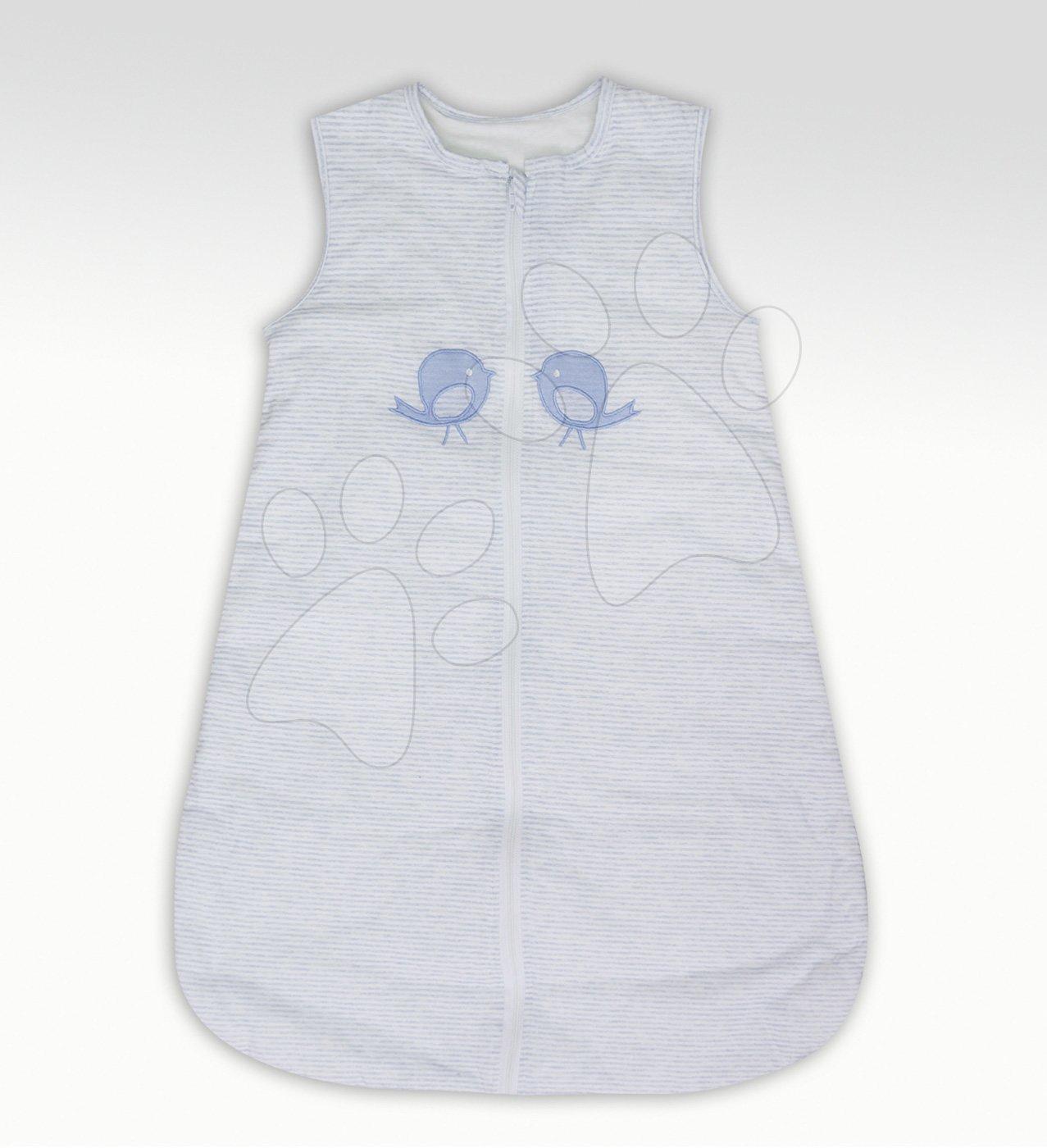 Spací vak pre bábätká Classic toTs-smarTrike vtáčiky 100% jersey bavlna modrý zimný od 6 mesiacov