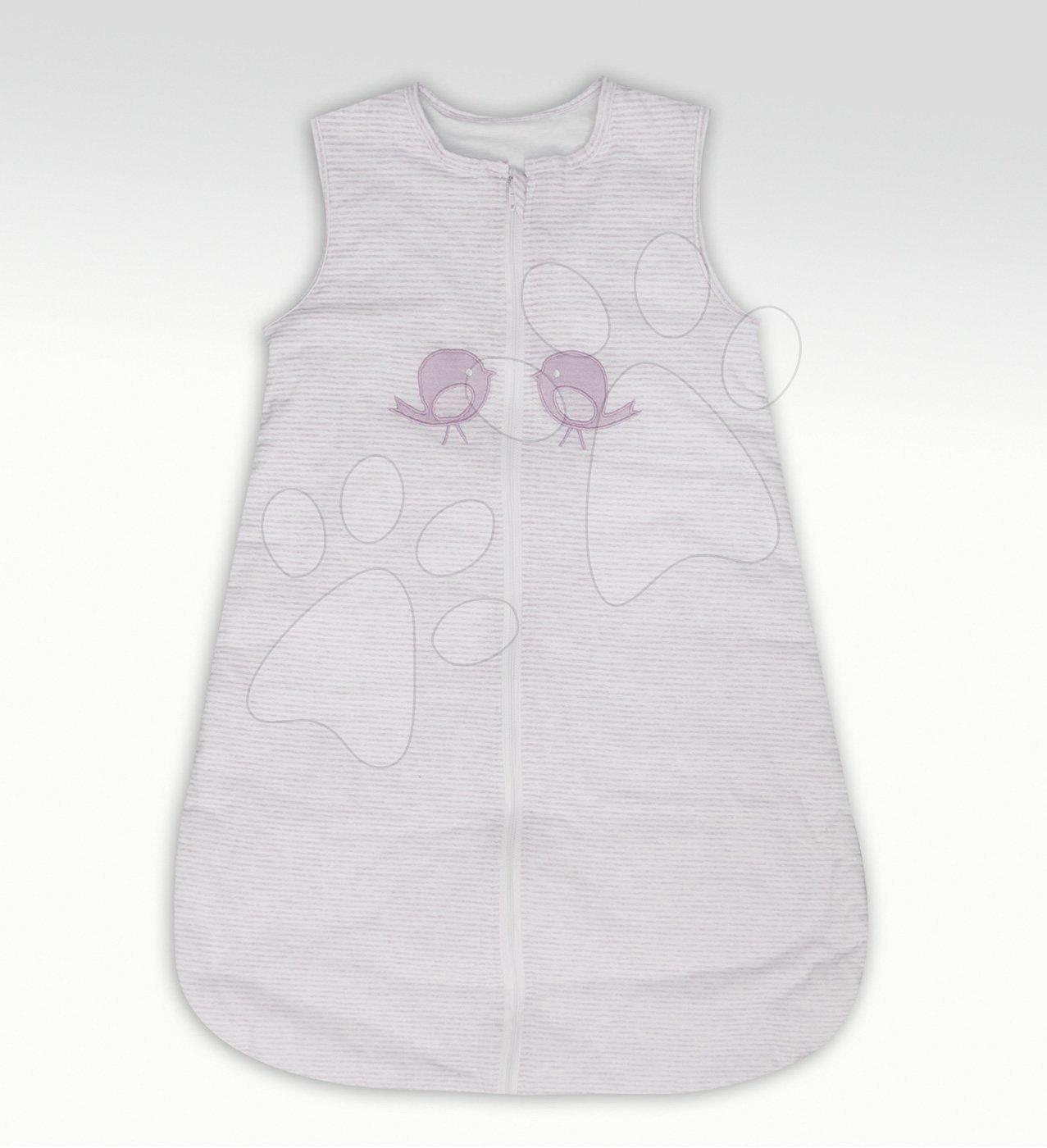 Spací vak pre bábätká Classic toTs-smarTrike ružové vtáčiky 100% jersey bavlna od 0 mesiacov