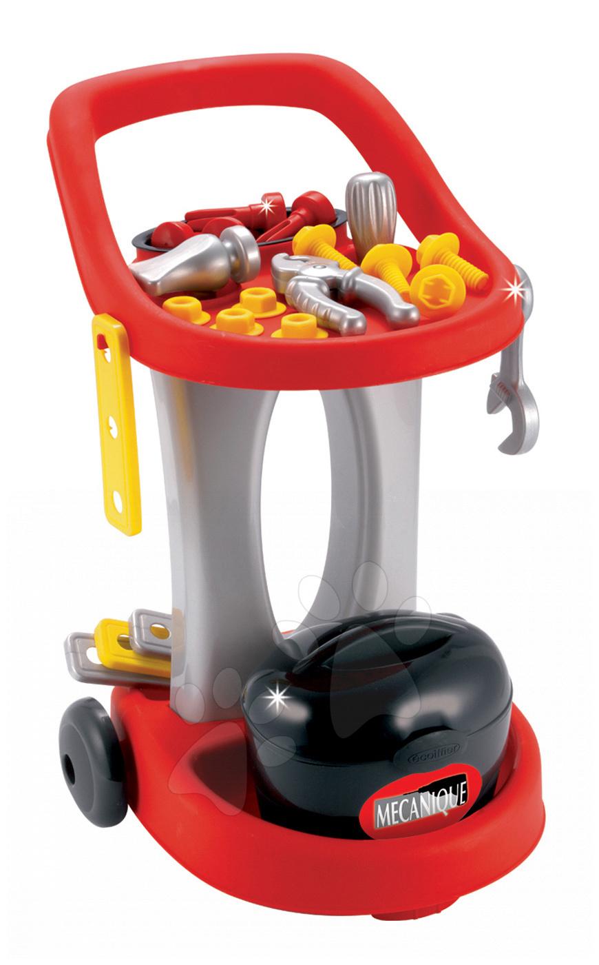 Pracovní dětská dílna - Pracovní vozík Mecanique Écoiffier s 18 doplňky od 24 měsíců