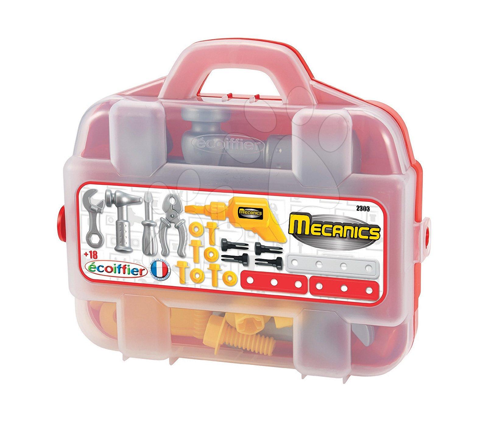 Kufřík s nářadím Mecanique Écoiffier 20 doplňků od 18 měsíců