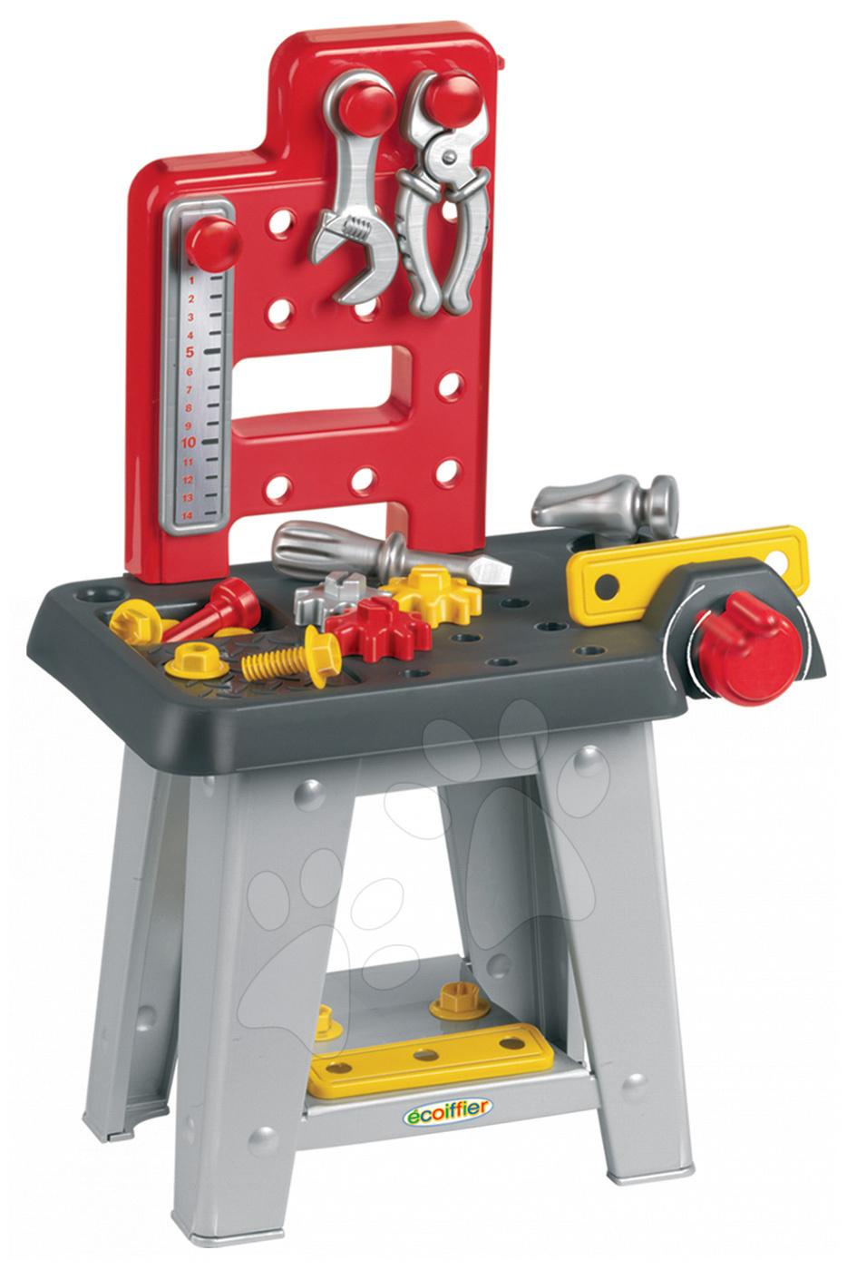 Stari vnosi - Écoiffier O2304 Mecanique pracovný stolík 25 ks 8*24,5*60 cm