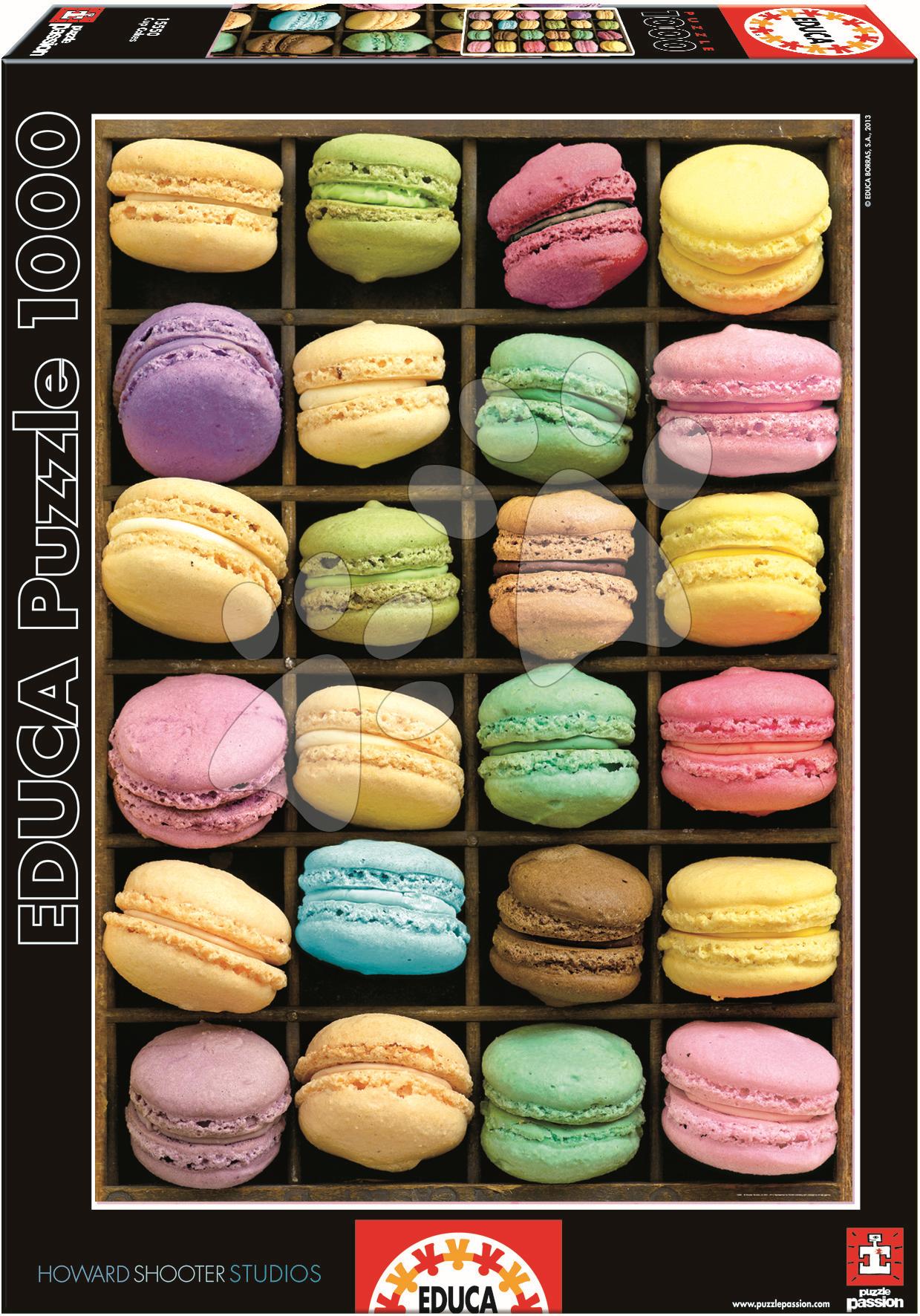 Puzzle 1000 dielne - Puzzle Macarons Educa 1000 dielov od 12 rokov