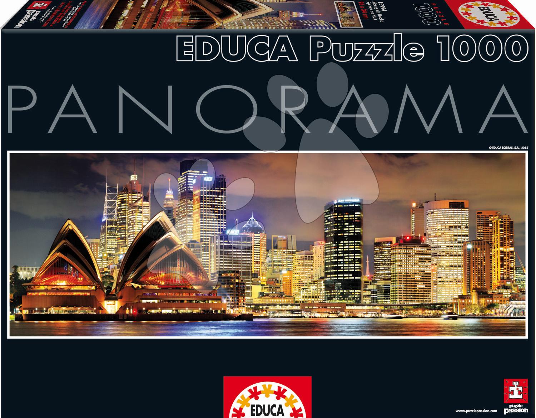 Panorama puzzle - Puzzle Panorama Sydney At Night Educa 1000 dielov od 12 rokov