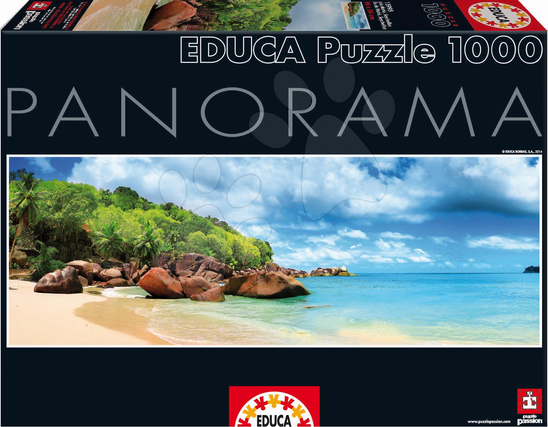 Staré položky - Puzzle panorama Mahe Island Seychelles Educa 1000 dielov od 12 rokov