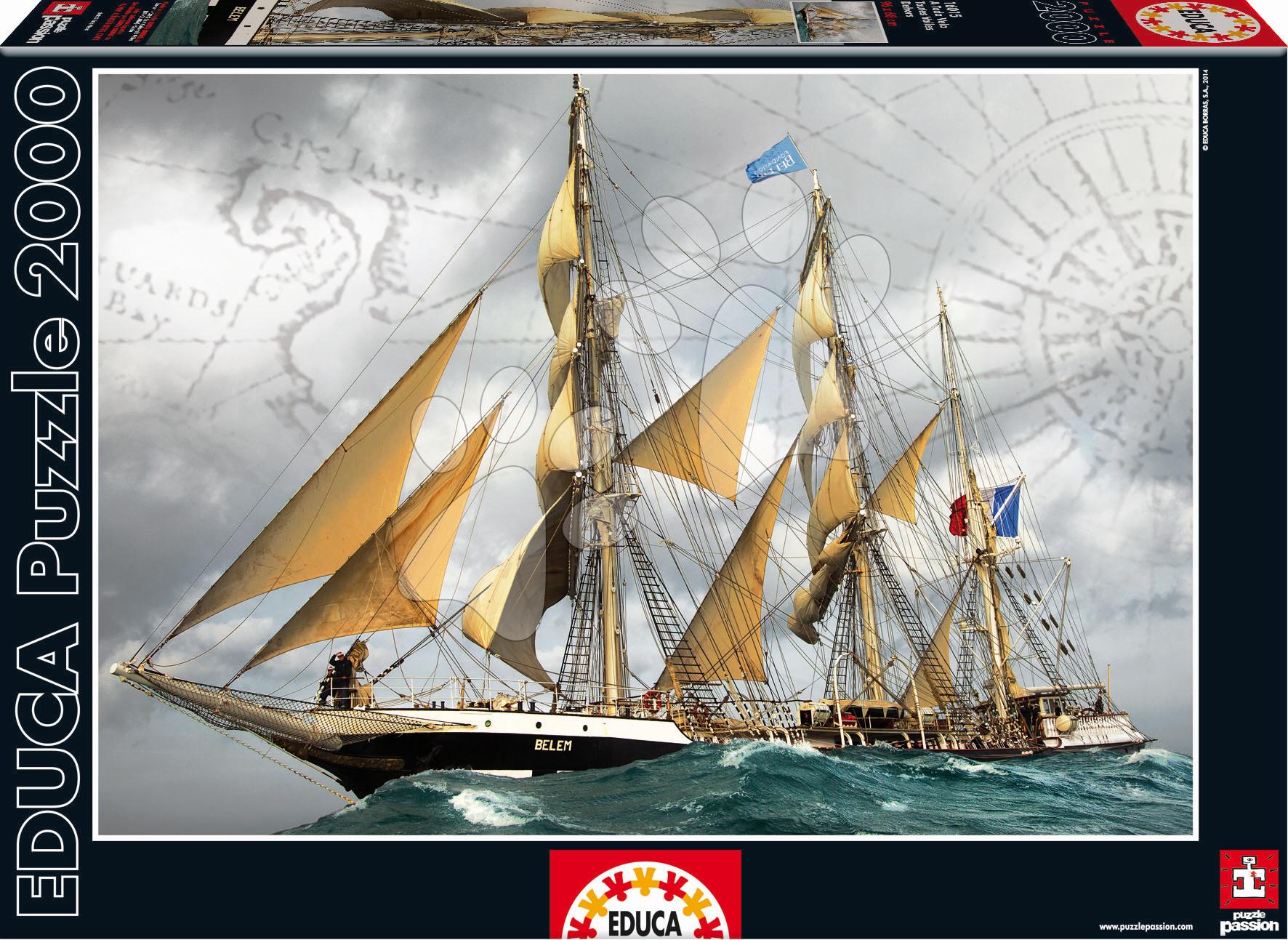 Puzzle 2000 dielne - Puzzle Under Full Sail Educa 2000 dielov