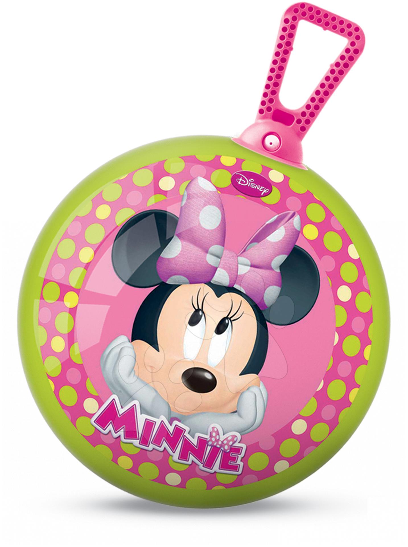 Detské skákadlá a hopsadlá - Lopta na skákanie Kangaroo Minnie Mouse Mondo s držiakom 45 cm