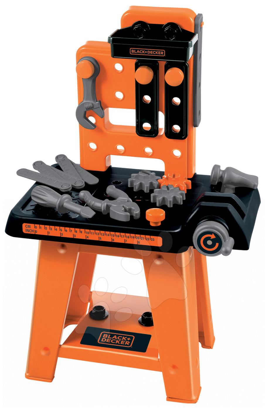 Pracovní dílna Black&Decker Écoiffier s 27 doplňky oranžovo-černá od 18 měsíců