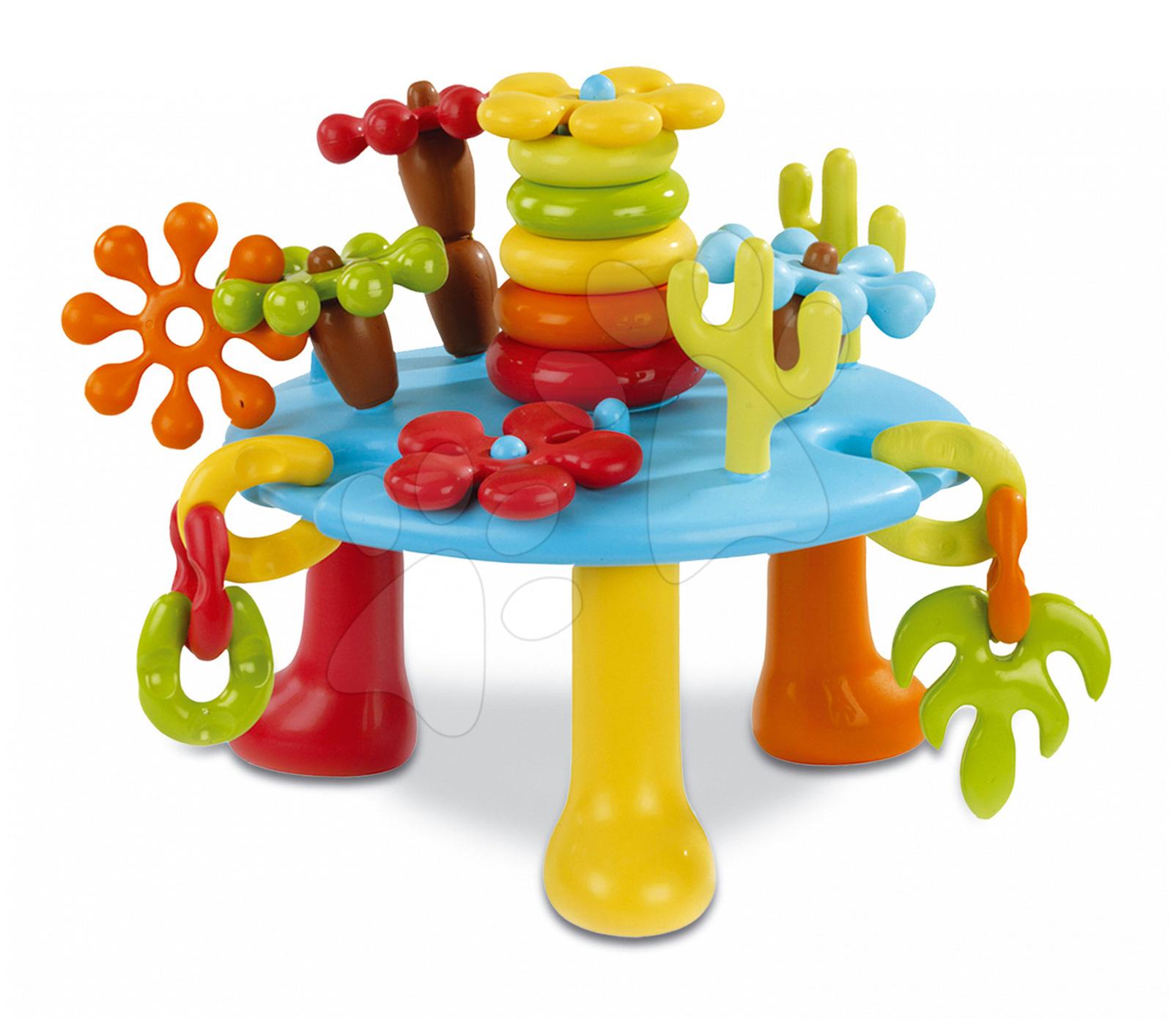 Didaktický stolek Cotoons Tap Tap Smoby s mechanickými funkcemi od 12 měsíců