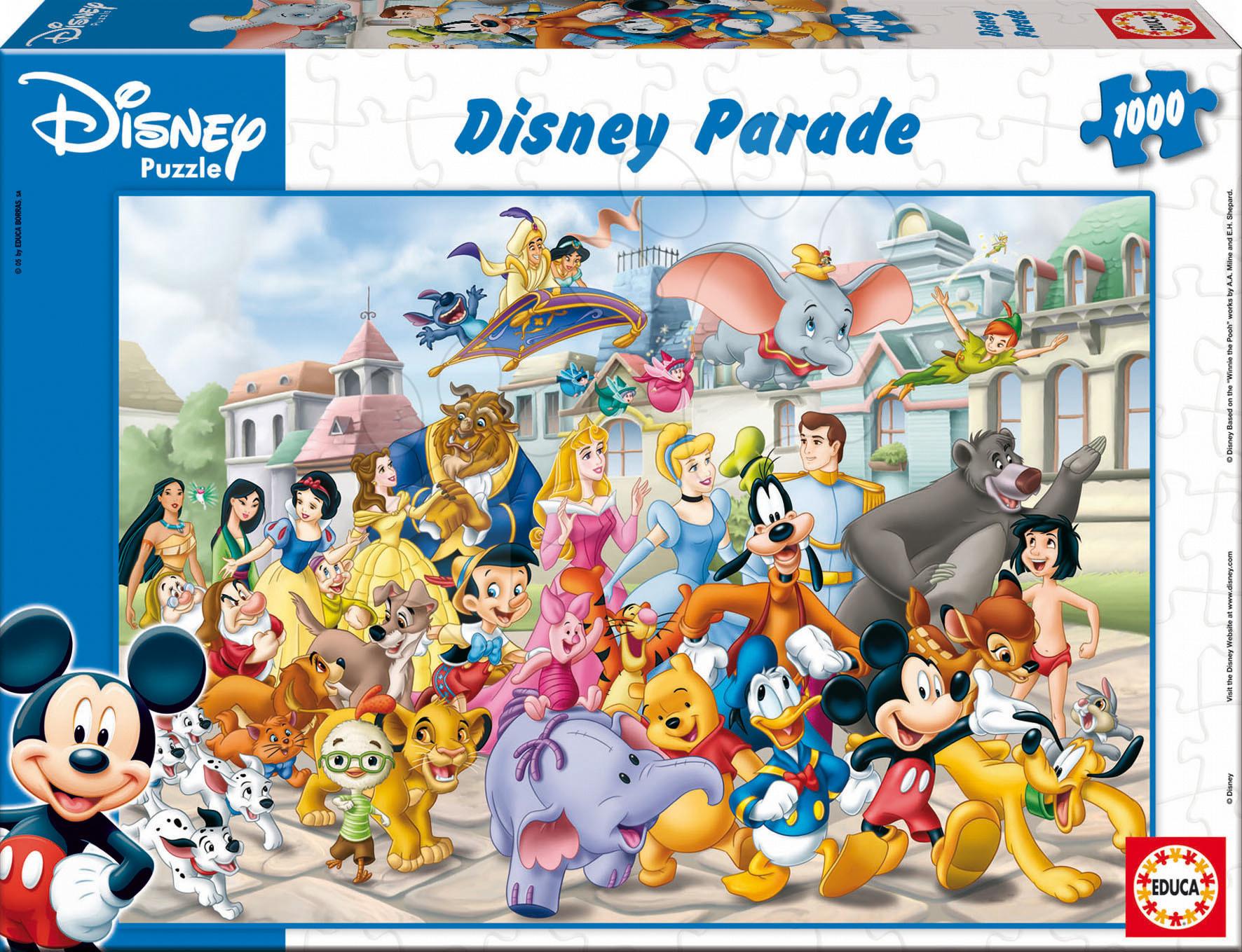 Puzzle Disney Parade Educa 1000 dielov od 12 rokov