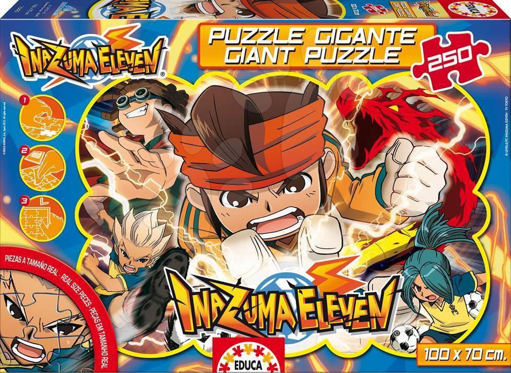 Dětské skládací koberce - Puzzle Giant Inazuma Eleven Educa 250 dílů od 8 let