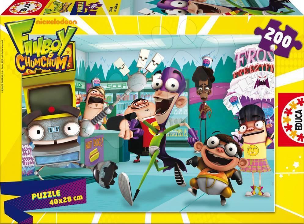 Detské puzzle od 100-300 dielov - Puzzle Fanboy & Chum Chum Educa 200 dielov od 6 rokov