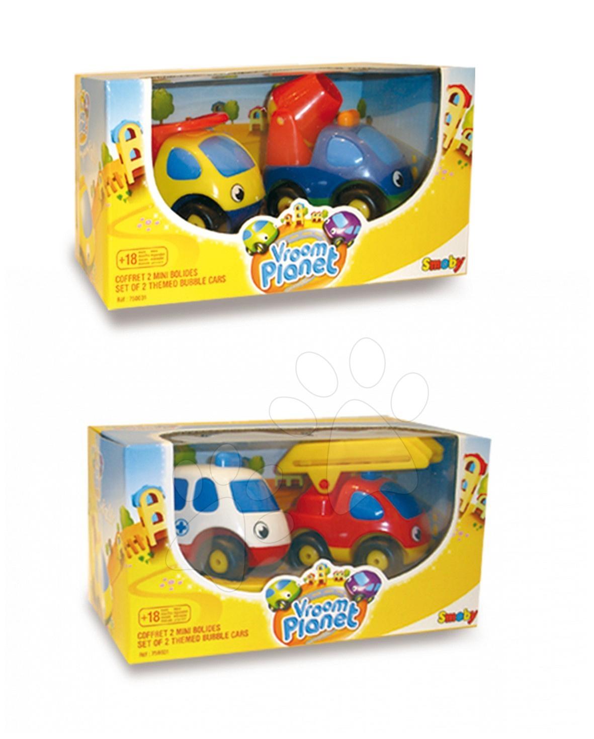 Dve pracovné autíčka Vroom Planet Smoby 2 druhy