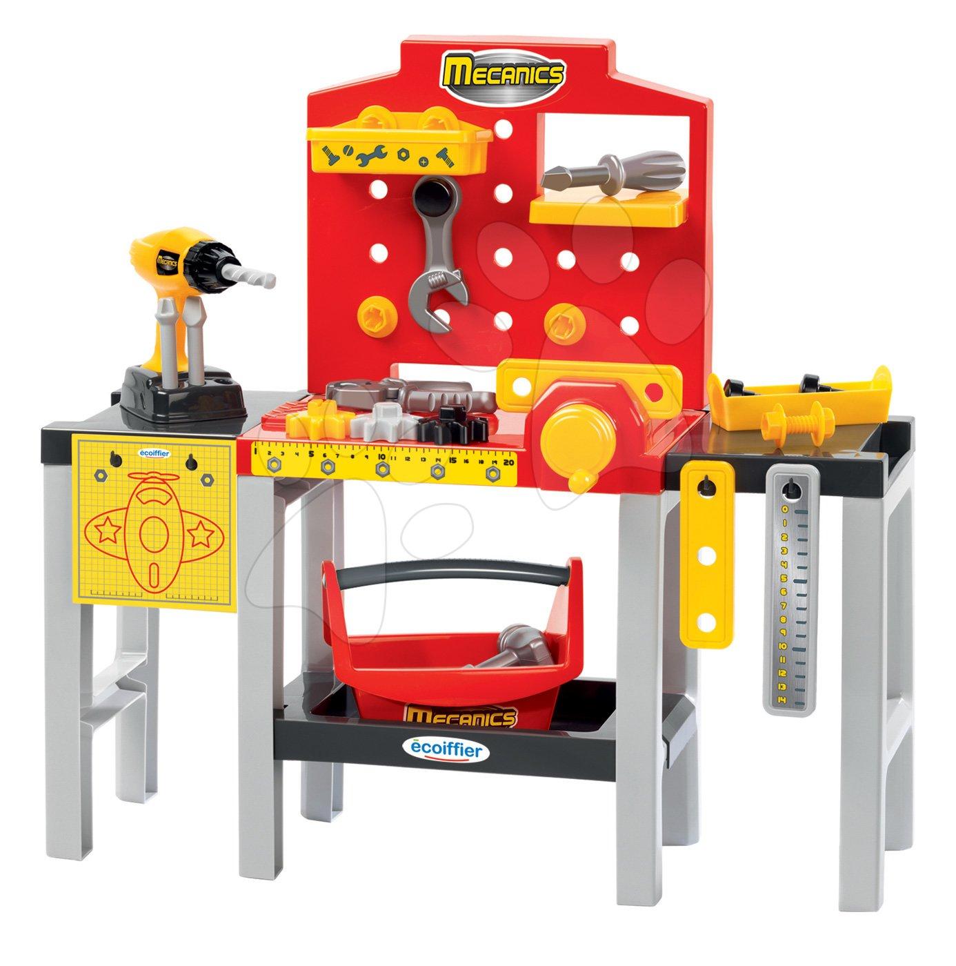 Écoiffier pracovná dielňa pre deti Mecanics s náradím a 32 doplnkami 2350