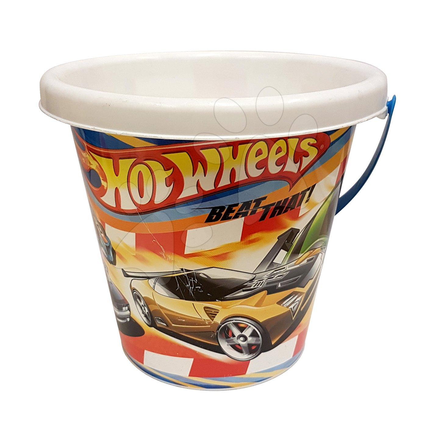 Vedierka do piesku - Hot Wheels vedro DIVERTOYS 16 cm