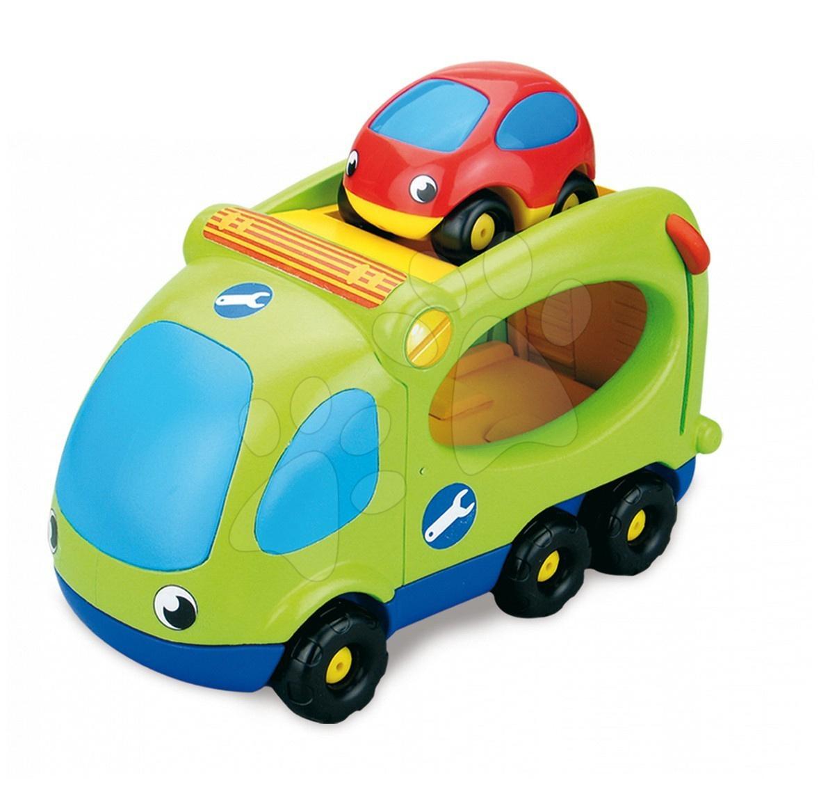 Zelený kamión-transportér s autíčkom Smoby od 12 mes