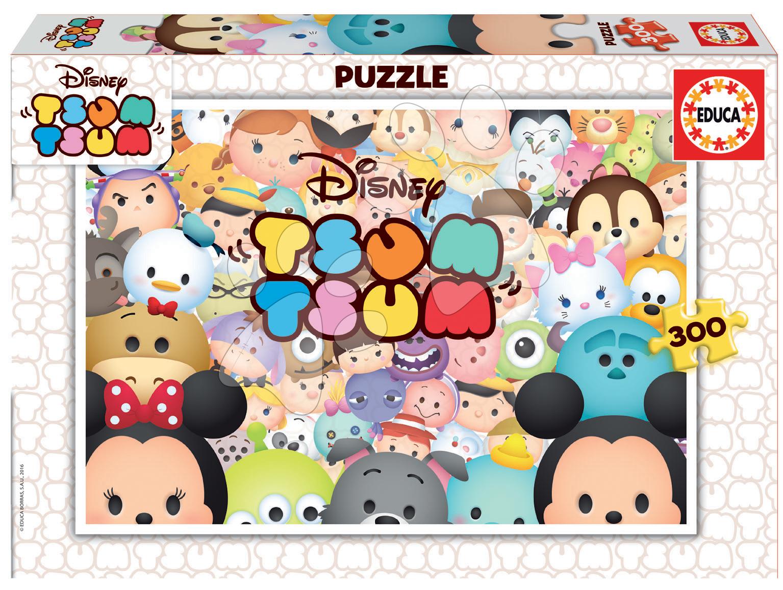 Detské puzzle od 100-300 dielov - Puzzle Disney Tsum Tsum Educa 300 dielov od 8 rokov