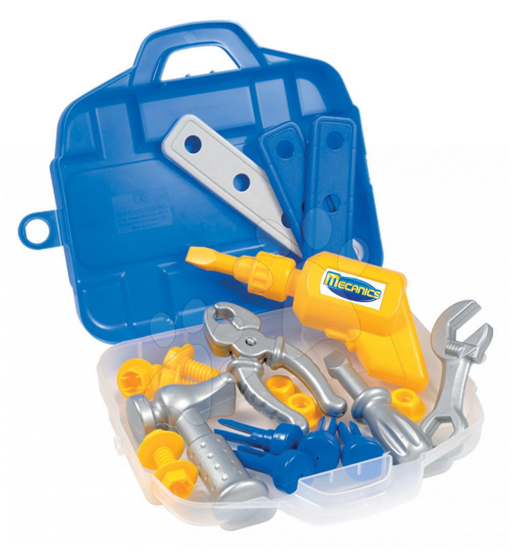 Náradie a nástroje - Náradie Mecanics Écoiffier v kufríku s 20 doplnkami od 18 mes