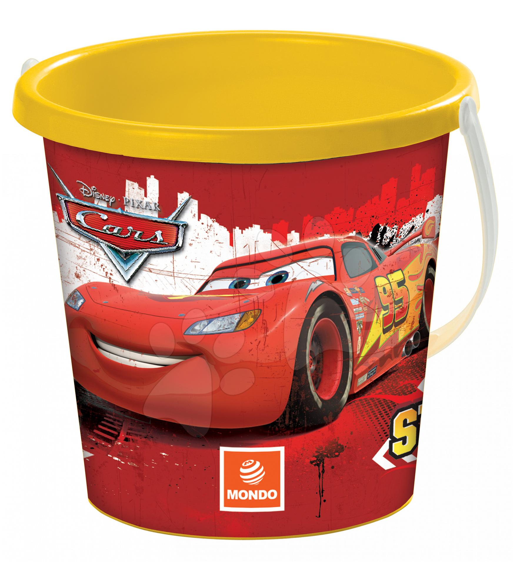 Kbelík Cars Mondo žluto-červený 19 cm