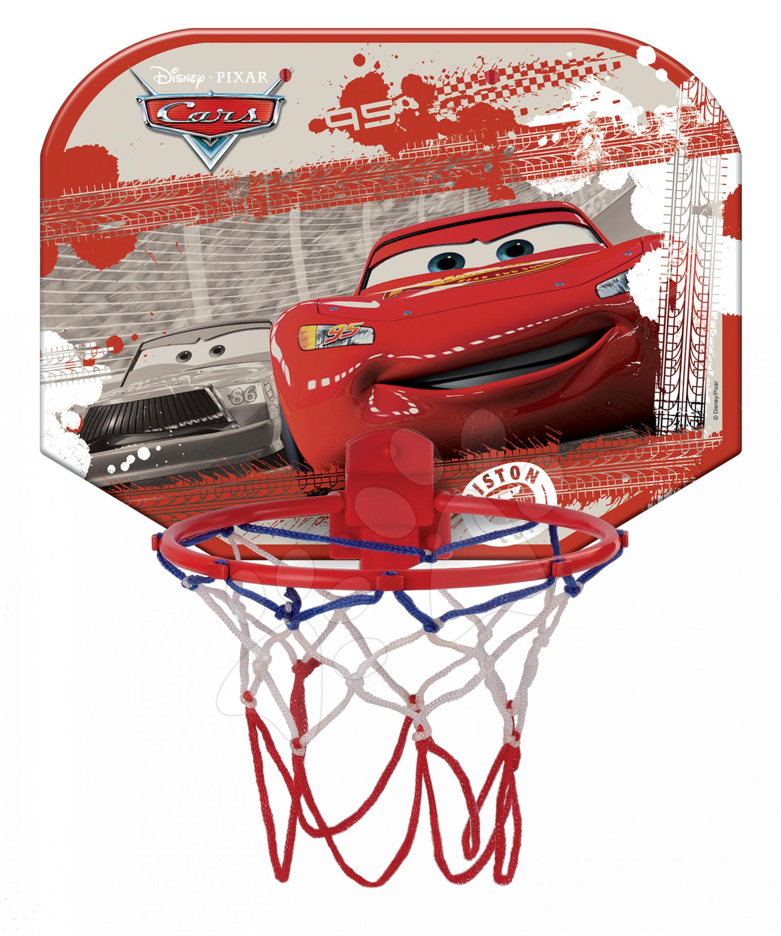 Basketbalový kôš Autá Mondo na stenu s loptou