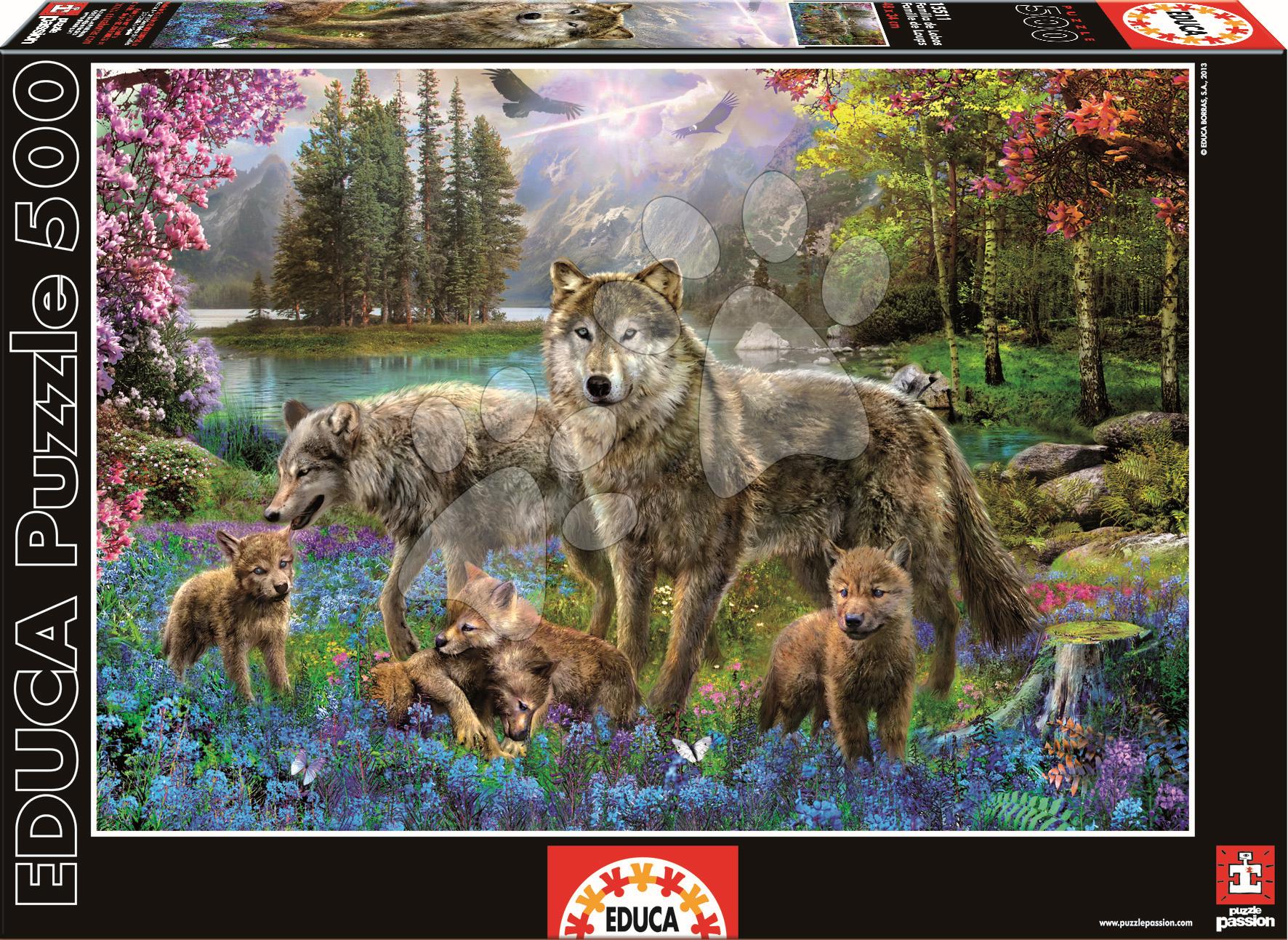Puzzle Genuine Vlčia rodina Educa 500 dielov od 11 rokov