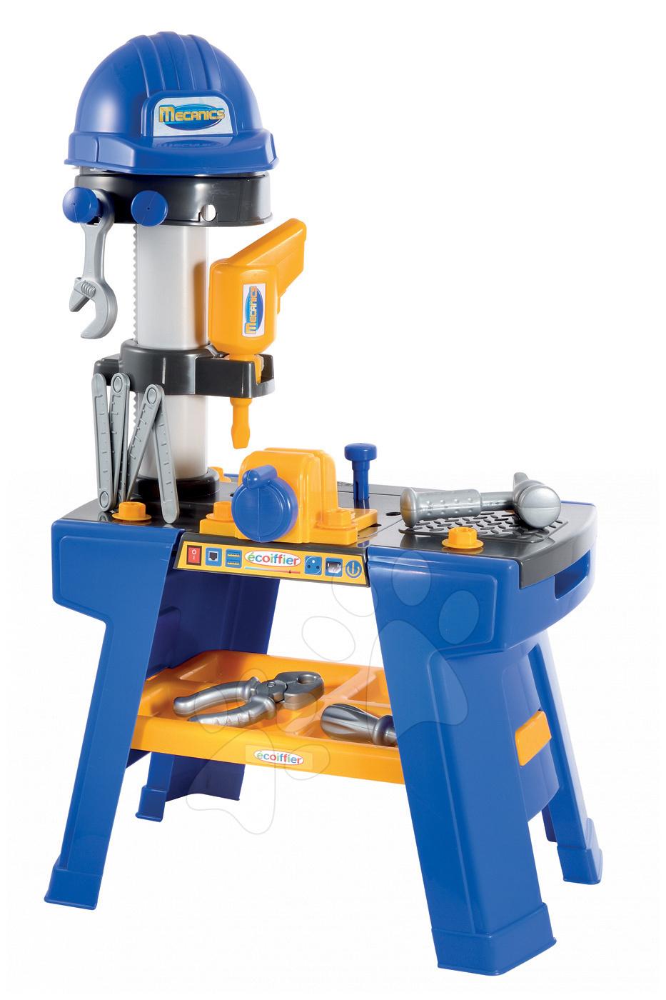 Pracovná detská dielňa - Pracovná dielňa Mecanics Écoiffier s prilbou s 25 doplnkami od 18 mes