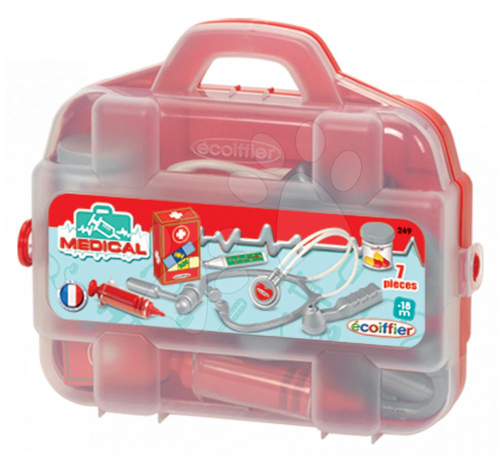 Zdravniški vozički za otroke - Zdravniški kovček Écoiffier s prvo pomočjo 7 dodatkov od 18 mes