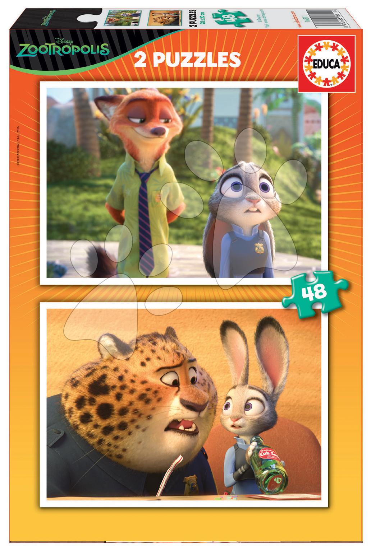 Puzzle Disney Zootropolis Educa 2x48 dílků