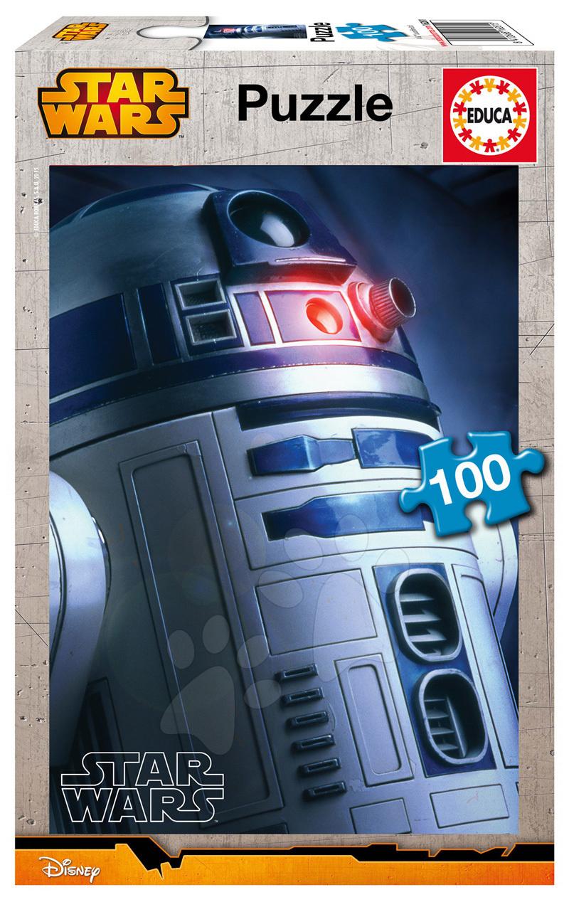 Detské puzzle od 100-300 dielov - Puzzle Star Wars R2-D2 Educa 100 dielov od 5 rokov