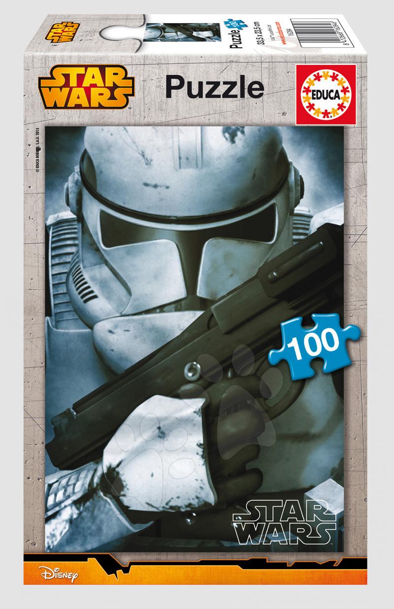 Detské puzzle od 100-300 dielov - Puzzle Star Wars Clone Trooper Educa 100 dielov od 5 rokov
