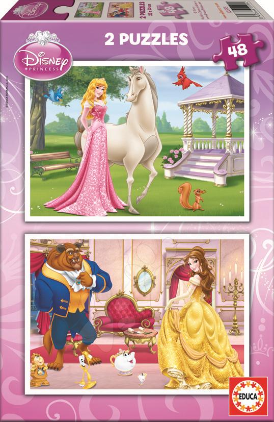 Puzzle Disney Princezné Educa 2x 48 dielov