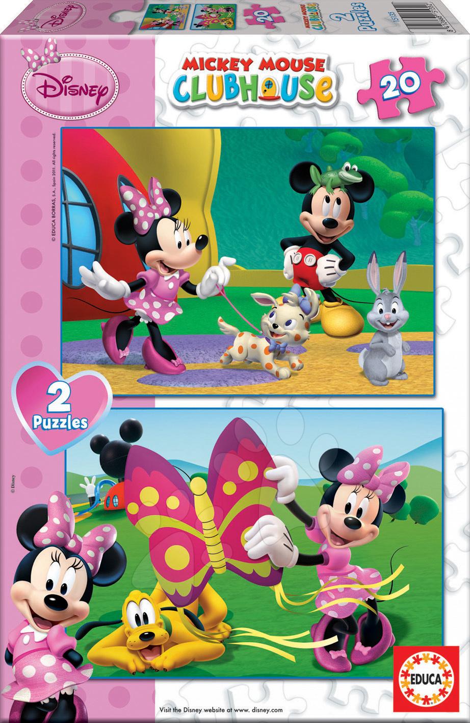 Puzzle Disney Minnie Mouse Educa 2x20 dílů