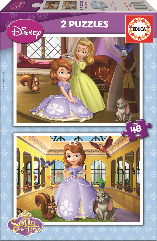 Puzzle Disney Sofia První Educa 2x48 dílků