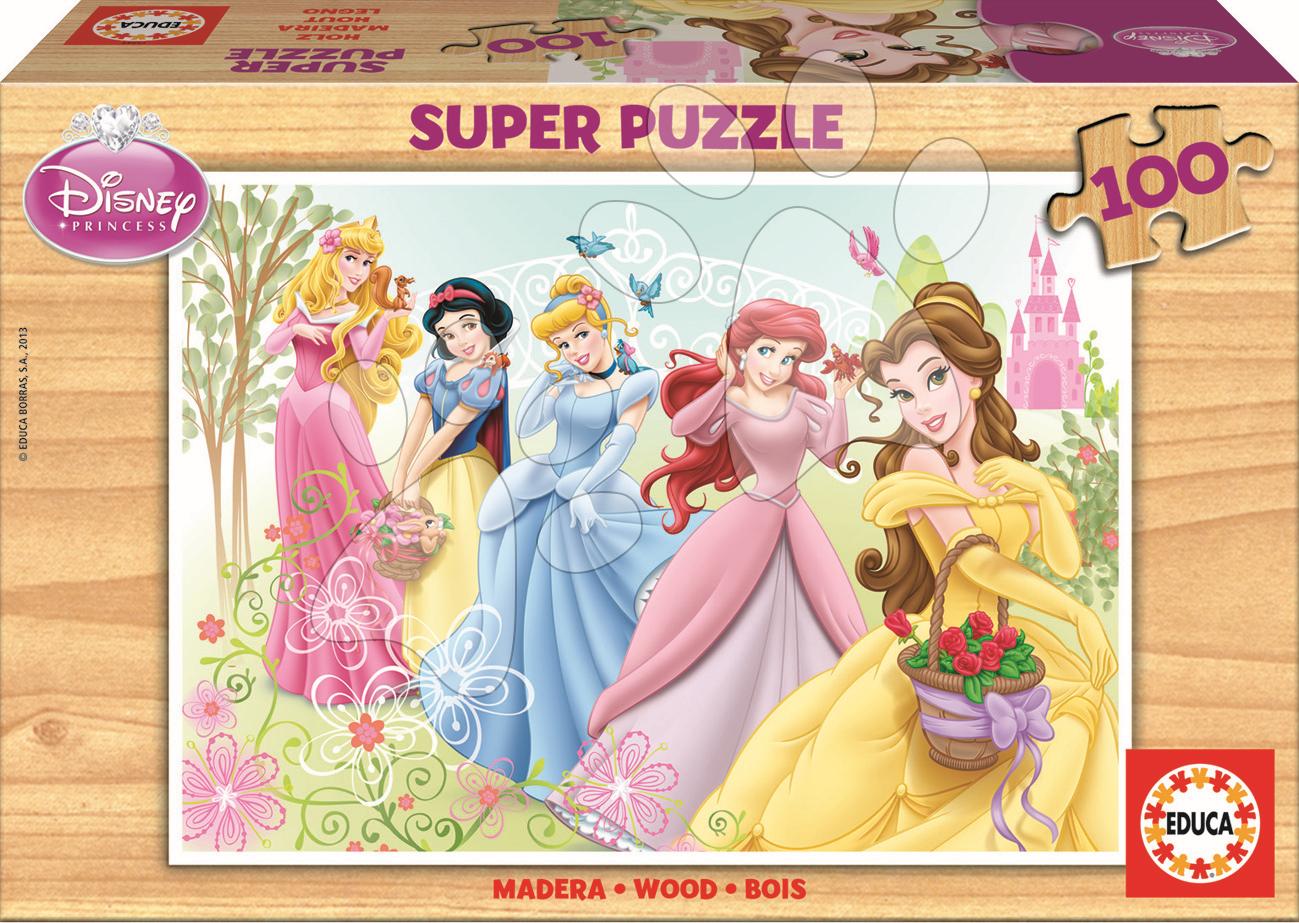 Drevené puzzle Princezné Educa 100 dielov od 5 rokov