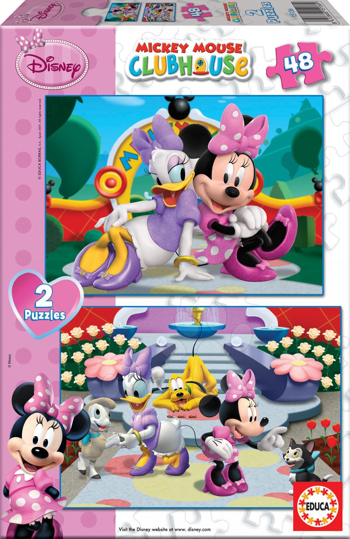 Puzzle Disney Minnie Mouse Educa 2x 48 dielov