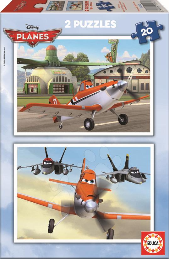 Puzzle Disney Letadla Educa 2x20 dílů
