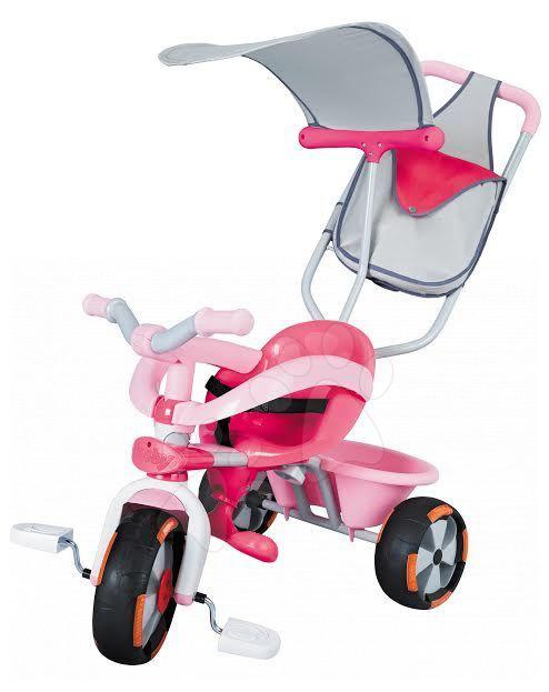 Tříkolka Baby Driver Confort Sport Girl Smoby růžová od 10 měsíců