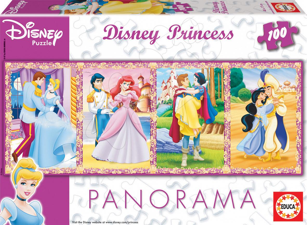Puzzle Panoráma Princezné Educa 100 dielov od 5 rokov