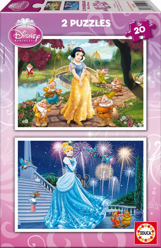 Puzzle Disney Snehulienka a Popoluška Educa 2x 20 dielov