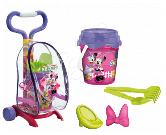 Vozík s kbelík setem Minnie Mouse Mondo (výška 59 cm) od 18 měsíců