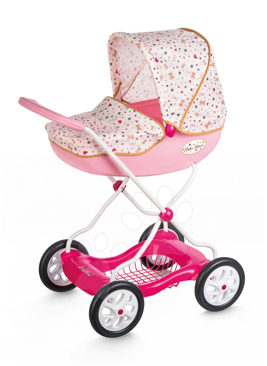 Smoby veľký hlboký kočiar pre bábiku Baby Nurse 250423 ružový