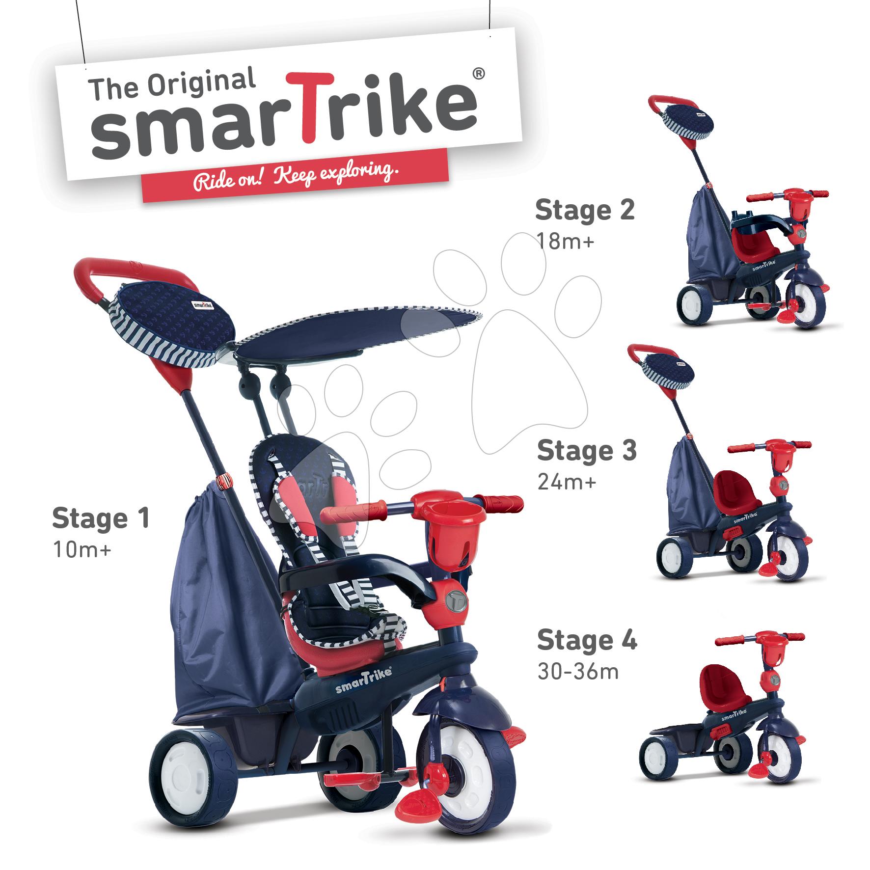 Dětská tříkolka Star Blue Touch Steering smarTrike od 10 měsíců